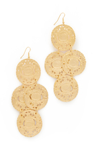 Kenneth Jay Lane Coin Drop Earrings