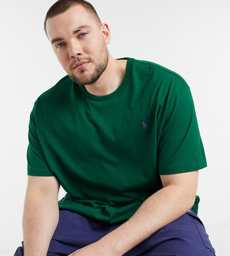 Polo Ralph Lauren Big & Tall player logo t-shirt in forest green