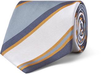 Bigi 8cm Striped Silk-Jacquard Tie