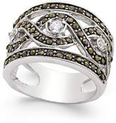 INC International Concepts I.N.C. Silver-Tone Crystal Braided Statement Ring, Created for Macy's