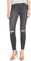 Current/Elliott &Soho Zip& Distressed Skinny Jeans (Caliber Destroy)