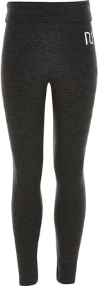 River Island Girls Grey fold over RI leggings
