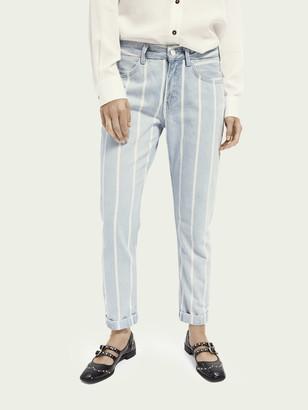 Scotch & Soda Bandit - Indigo Stripe Boyfriend fit jeans | Women