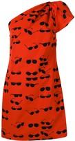 Victoria Victoria Beckham Glasses one-shoulder mini dress