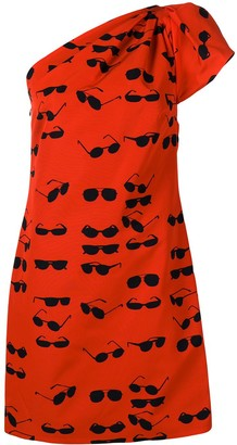 Victoria Victoria Beckham Glasses one-shoulder mini dress