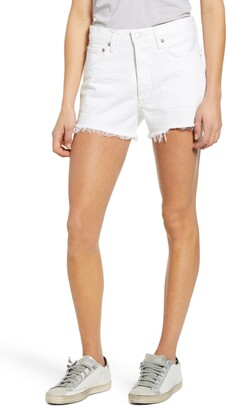 AGOLDE Parker High Waist Cutoff Denim Shorts