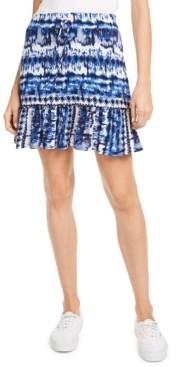BeBop Juniors' Ruffle-Hem Mini Skirt
