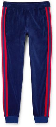 Gucci Slim-Fit Striped Cotton-Blend Velour Sweatpants
