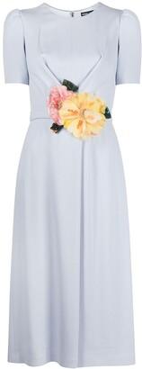 Dolce & Gabbana Floral-Applique Midi Dress