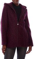 Anne Klein Wool-Blend Hooded Jacket