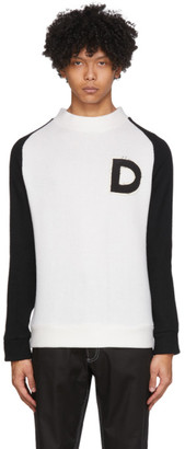 Daniel W. Fletcher White and Black Varsity Sweater