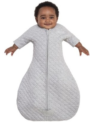 Halo2cloud HALO Easy Transition SleepSack Wearable Blanket, 100% Cotton, Gray Heather, Small