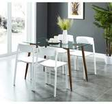 Wrought Studio Dottie Contemporary 5 Piece Dining Set Wrought Studio Chair Color: White