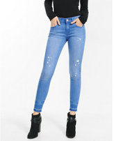 Express mid rise released hem distressed ankle legging
