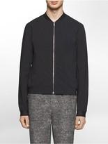 Calvin Klein Platinum Slim Fit Abstract Tonal Matchsticks Print Bomber Jacket