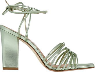 AEYDĒ Daisy Strappy Leather Sandals