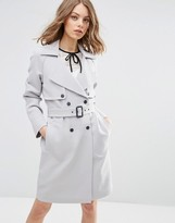Asos Trench in Bonded Cloth