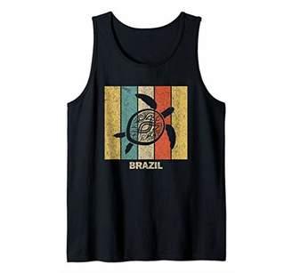 Brazil Retro 80s Tribal Sea Turtle Tank Top