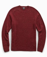 Todd Snyder Cashmere Donegal Crew in Merlot