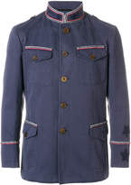 Ermanno Scervino pipe trim military jacket