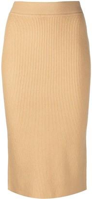 MICHAEL Michael Kors Ribbed Cashmere Skirt