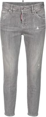 DSQUARED2 Cool Girl Cotton Denim Crop Skinny Jeans