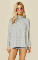 Sundry peace sign pull over hoodie