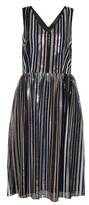 Dorothy Perkins Womens Luxe Multi Colour Striped Sequin Midi Skater Dress