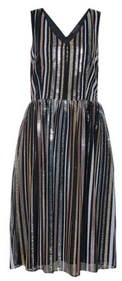 Dorothy Perkins Womens **Luxe Multi Colour Striped Sequin Midi Skater Dress