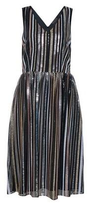 Dorothy Perkins Womens Luxe Multi Colour Striped Sequin Midi Skater Dress