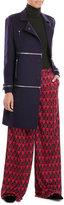 Diane von Furstenberg Wool Coat with Zippers