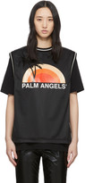 Palm Angels Black Layered Sunset T-Shirt