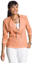 Chico's Casual Fabric-Mix Moto Jacket