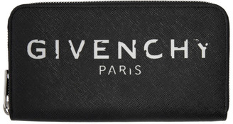 Givenchy Black Iconic Zip Wallet
