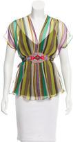 Etro Silk Striped Blouse