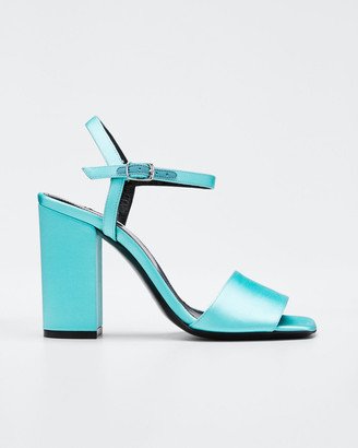 Dries Van Noten Strappy Satin Ankle Sandals