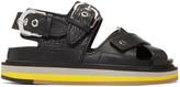 Maison Margiela Black Brushed Effect Sandals