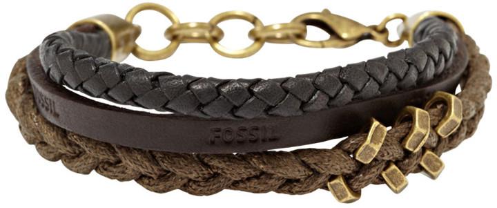 Fossil Multi String Bracelet- Black