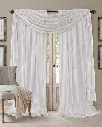 "Elrene Athena 84"" Faux Silk Window Curtain & Scarf Set"