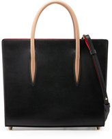 Christian Louboutin Paloma Medium Triple-Gusset Tote Bag, Black/Brown