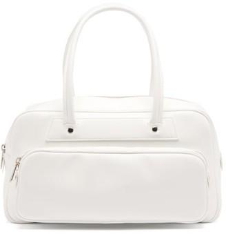 Comme des Garçons Comme des Garçons Faux-leather Bowling Bag - White