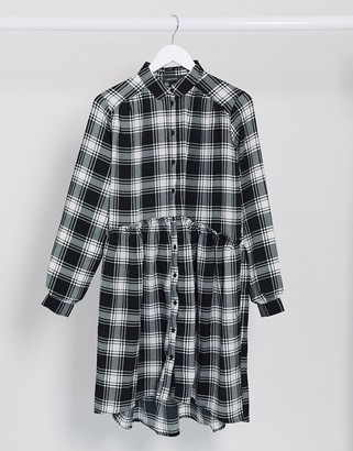 Monki check smock dress