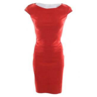 Jitrois Orange Leather Dress for Women