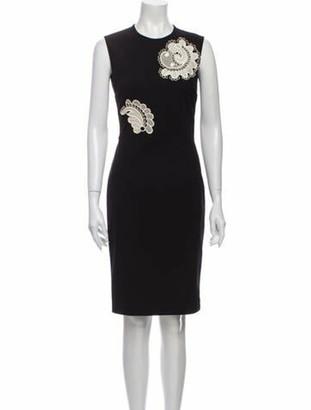 Stella McCartney Printed Knee-Length Dress Black