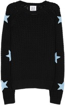 Zoe Karssen Black Star-appliquéd Cotton Jumper