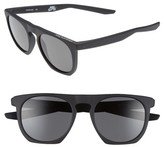 Nike Men's Flatspot 52Mm Sunglasses - Matte Black/ Deep Pewter