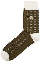 Alexander McQueen Floral & Skull Socks
