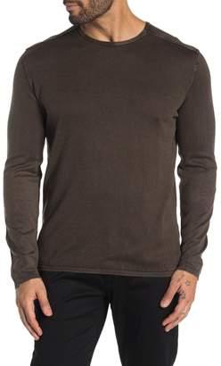 John Varvatos Walter Crew Neck Elbow Patch Shirt