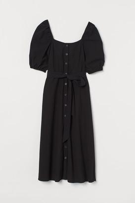 H&M Cotton crepe dress