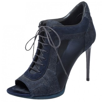 Burberry Blue Leather Ankle boots
